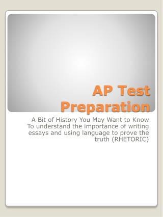 AP Test Preparation