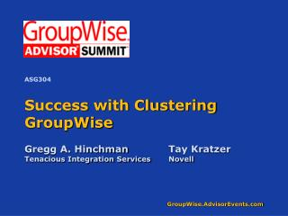 Success with Clustering GroupWise