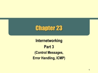 Internet Control Message Protocol ICMP
