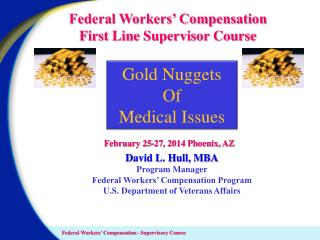 Federal Workers' Compensation First Line Supervisor  Course