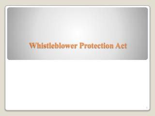 Whistleblower Protection Act