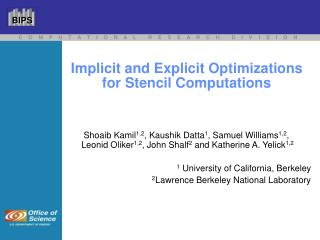 Implicit and Explicit Optimizations for Stencil Computations