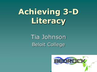 Achieving 3-D Literacy