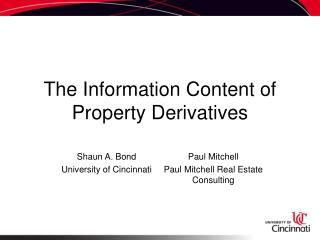The Information Content of Property Derivatives