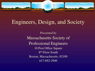 Engineers, Design, and Society