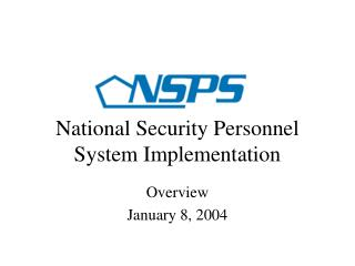 National Security Personnel System Implementation