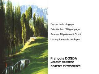 Fran ois DOSDA  Direction Marketing CEGETEL ENTREPRISES
