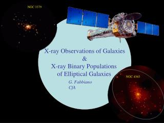 X-ray Observations of Galaxies & X-ray Binary Populations  of Elliptical Galaxies