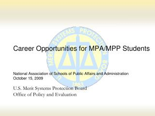 Career Opportunities for MPA/MPP Students