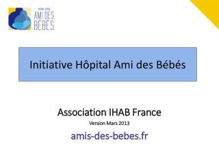 Initiative Hôpital Ami des Bébés