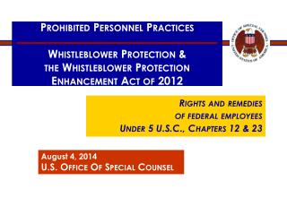 Prohibited Personnel Practices Whistleblower Protection &