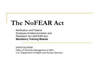 The NoFEAR Act