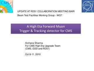 A  High Eta Forward  Muon Trigger  & Tracking  detector for CMS