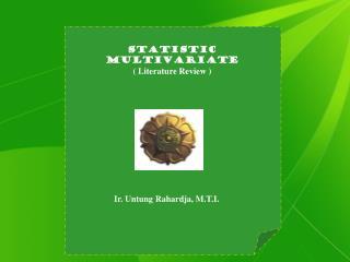 Statistic Multivariate ( Literature Review )