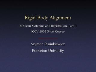 Rigid-Body Alignment
