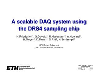 A scalable DAQ system using the DRS4 sampling chip