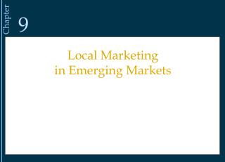 Local Marketing  in Emerging Markets
