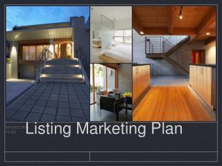 Listing Marketing Plan