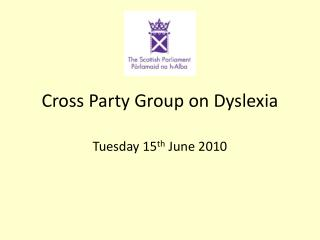 Cross Party Group on Dyslexia