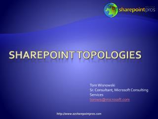 SharePoint Topologies
