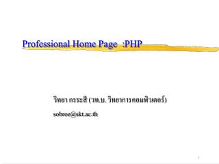 Professional Home Page  : PHP