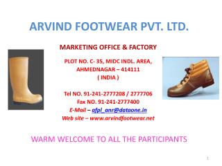 ARVIND FOOTWEAR PVT. LTD.
