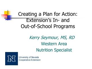 Creating a Plan for Action:  Extension's In- and  Out-of-School Programs