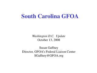 South Carolina GFOA