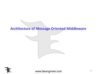 Architecture of Message Oriented Middleware