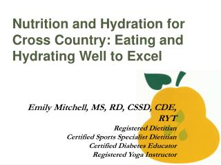 Nutrition and Hydration for Cross Country: Eating and Hydrating Well to Excel