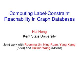 Computing Label-Constraint Reachability in Graph Databases