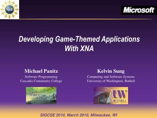 Developing Game-Themed Applications With XNA