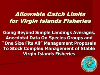Allowable Catch Limits for Virgin Islands Fisheries