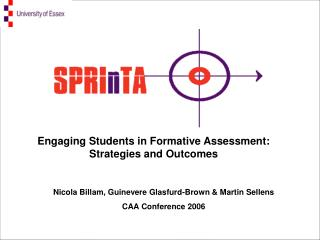 Nicola Billam, Guinevere Glasfurd-Brown & Martin Sellens CAA Conference 2006