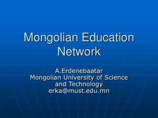 Mongolian Education Network