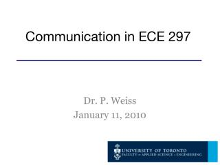 Communication in ECE 297