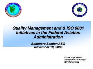 Baltimore Section ASQ November 18, 2003
