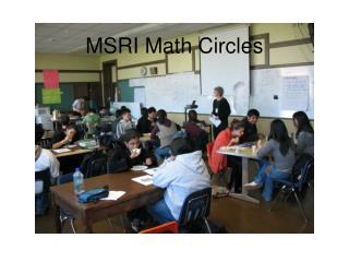 MSRI Math Circles