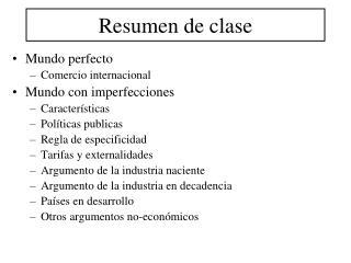Resumen de clase