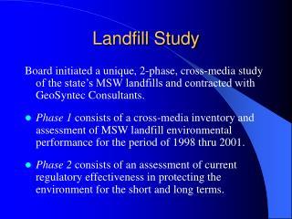 Landfill Study