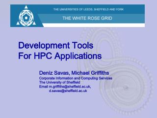 Development Tools For HPC Applications