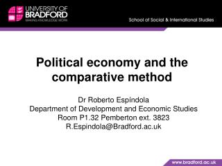 Political economy and the comparative  method
