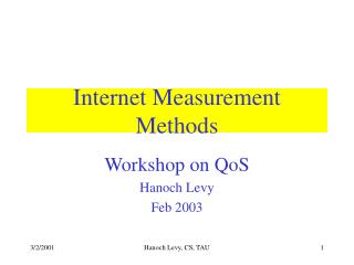 Internet Measurement Methods