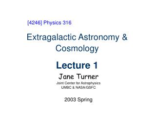 Extragalactic Astronomy & Cosmology Lecture 1