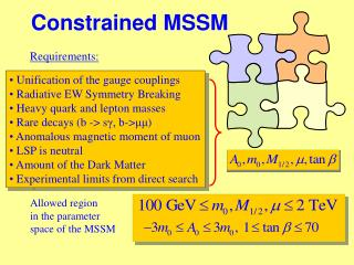 Constrained MSSM