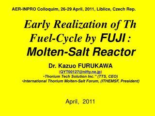 AER-INPRO Colloquim, 26-29 April, 2011, Liblice, Czech Rep.