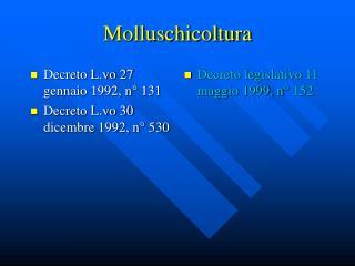 Molluschicoltura