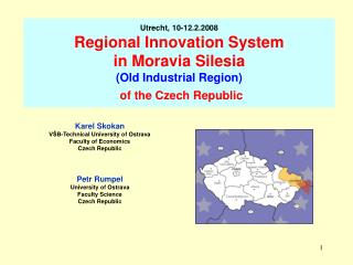 Karel Skokan V�B-Technical University of Ostrava Faculty of Economics Czech Republic