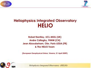 Heliophysics  Integrated Observatory HELIO