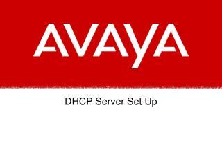 DHCP Server Set Up